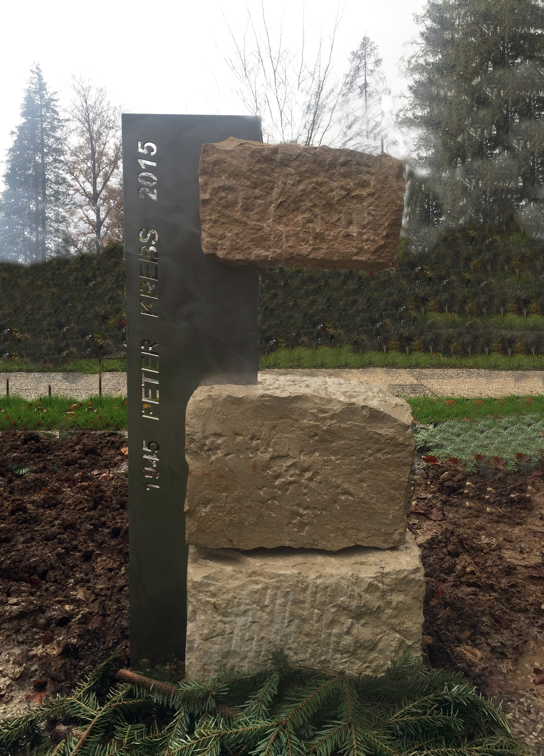 Kalkstein mit Metall